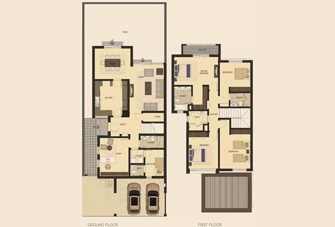 Saadiyat Lagoons Floor Plan 4 Bedroom Townhouse Type m