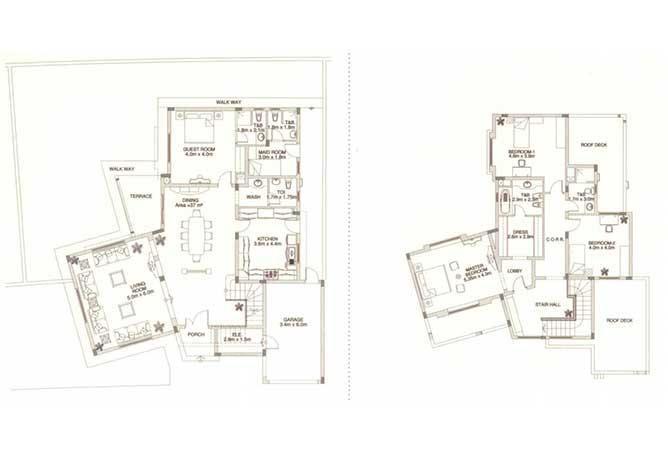 Sas Al Nakhl Village Floor Plan 4 Bedroom Villa Type b3
