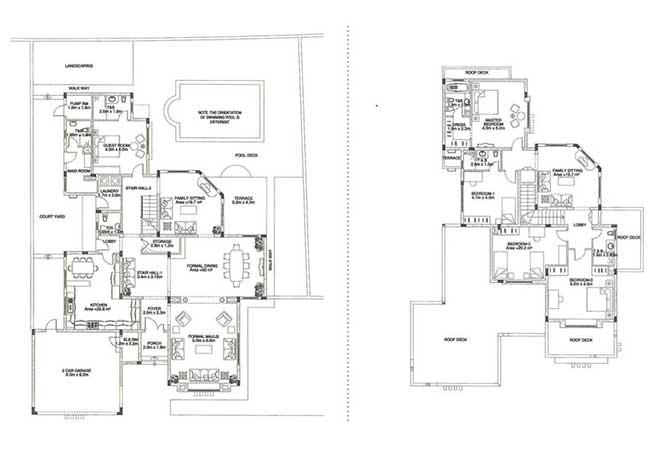 Sas Al Nakhl Village Floor Plan 5 Bedroom Villa