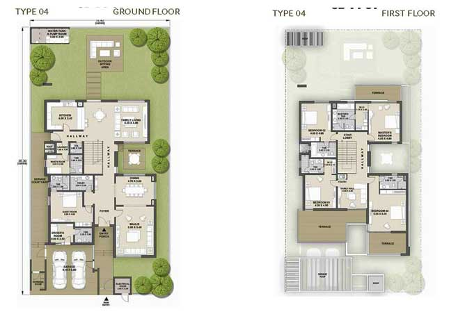 West Yas Floor Plan Villa Type 4a