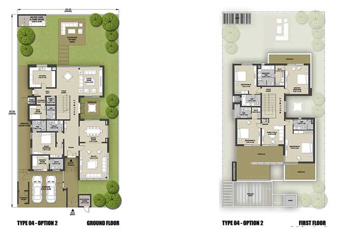 West Yas Floor Plan Villa Type 4b