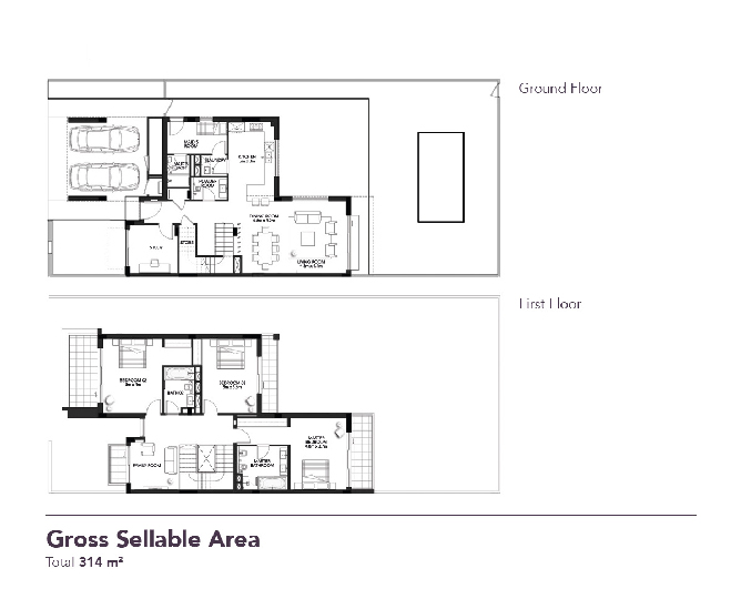 Yas Acres Floor Plan 3 Bedroom Duplex Type Y