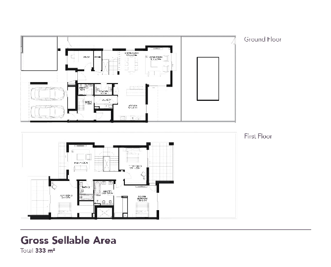 Yas Acres Floor Plan 3 Bedroom Townhouse Type EB