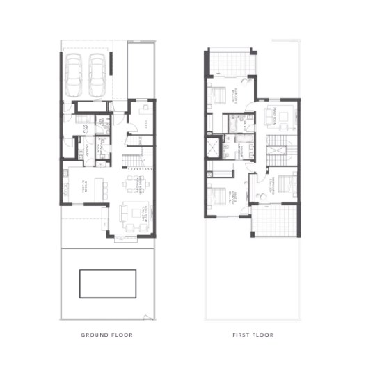 TYPE B 3BR TownhouseTotal Gross Sellable Area: 315 m2
