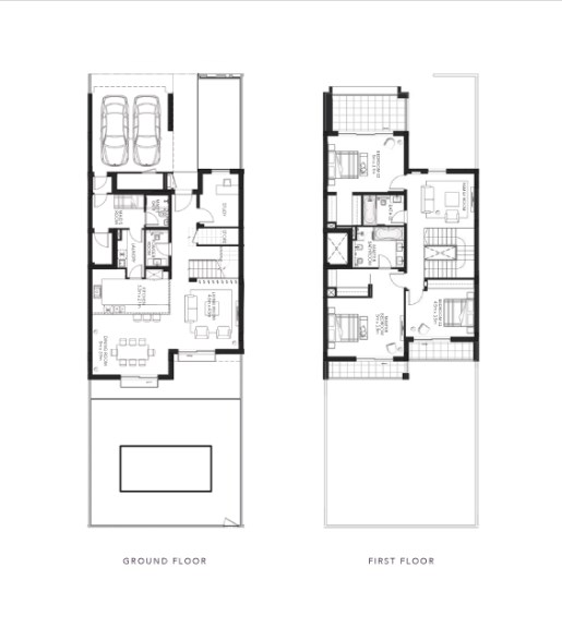 TYPE A 3BR TownhouseN  Total Gross Sellable Area: 333 m2
