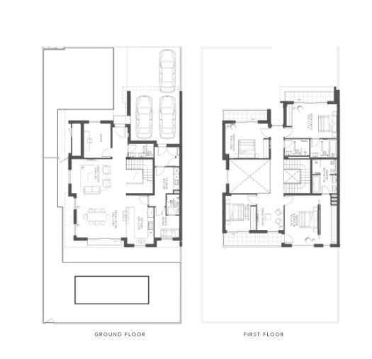 TYPE A 4BR Townhouse Total Gross Sellable Area: 347 m2