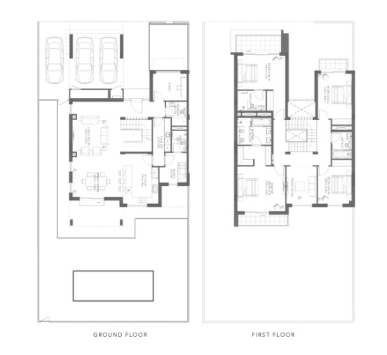 TYPE B 4BR Townhouse Total Gross Sellable Area: 354 m2