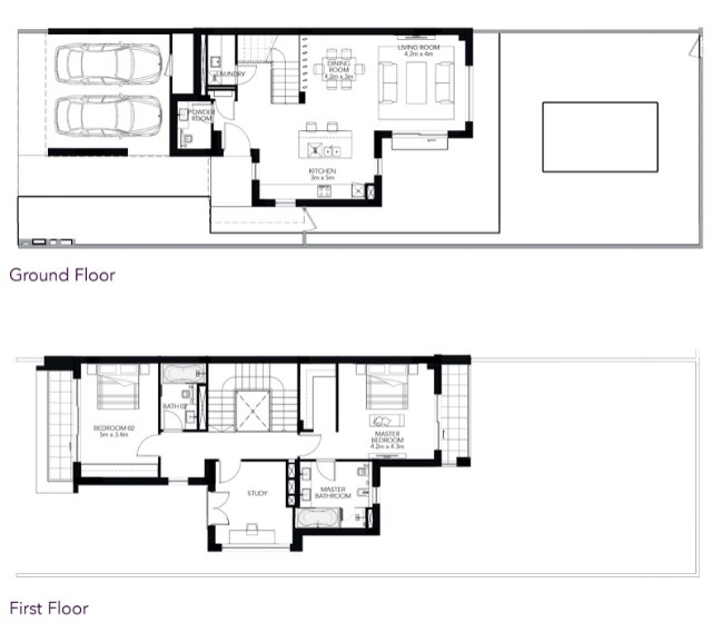 TYPE 2M 2BR TownhouseTotal Gross Sellable Area: 217 m2